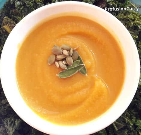 Butternut Squash Soup-Vegan-InstantPot-ProfusionCurry