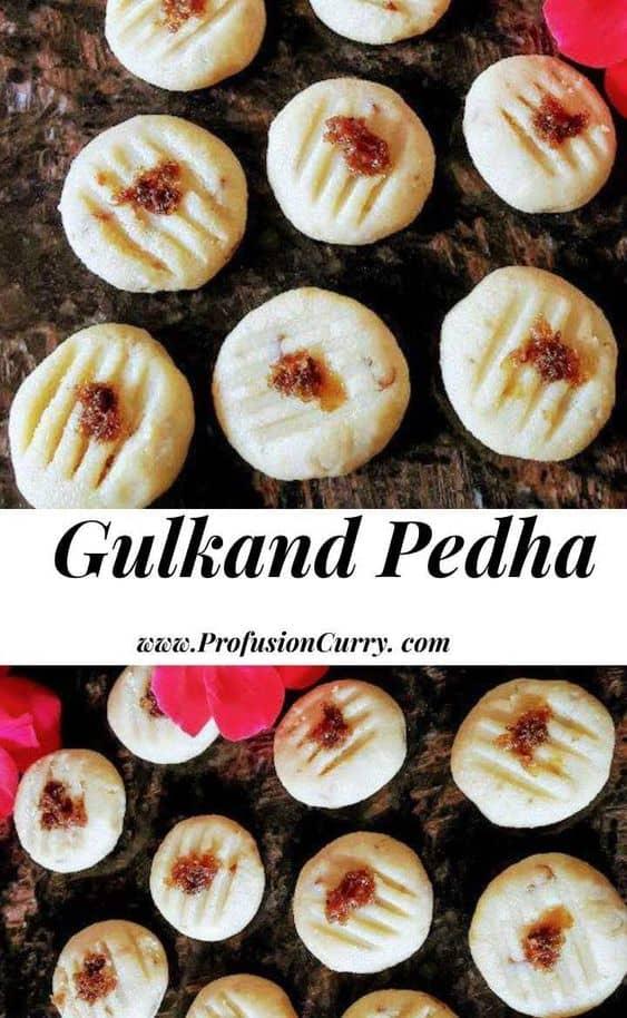 Gulkand Pedha Recipe