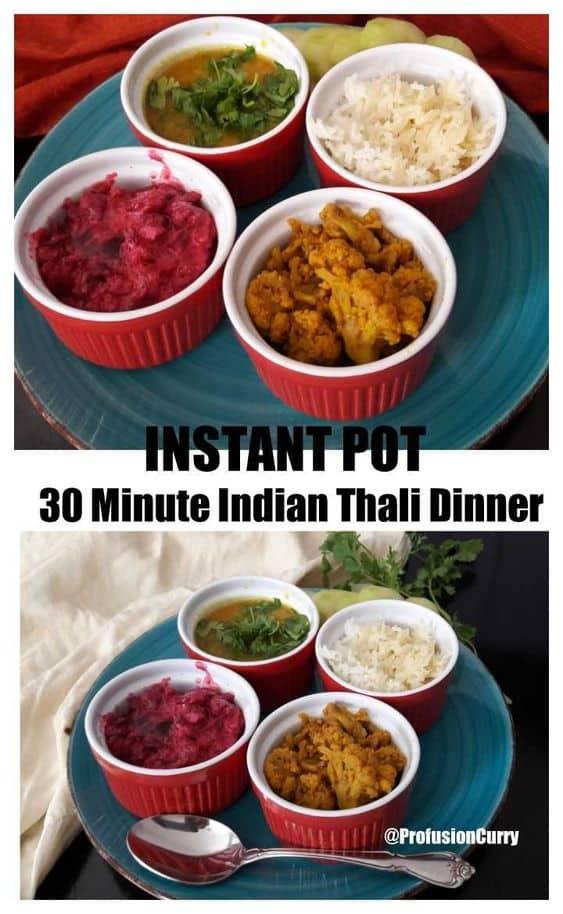 Vegetarian Thali-InstantPot-ProfusionCurry