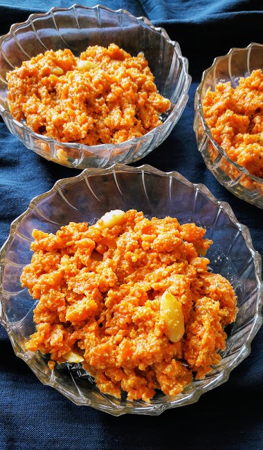 Carrot Almond Pudding