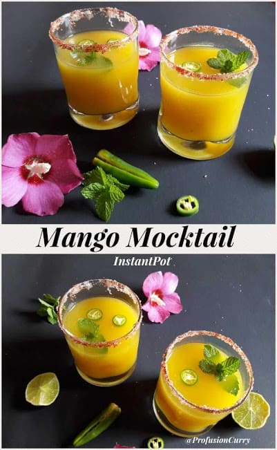 Pinterest image for Mango Mocktail