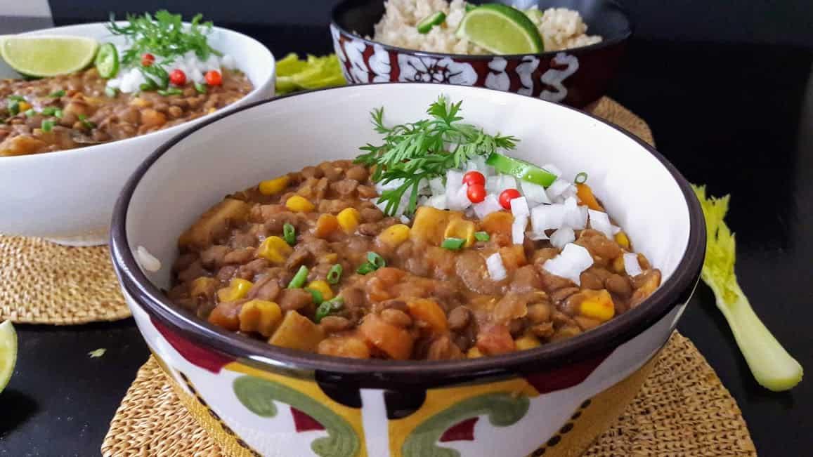 Vegan Lentil Chili-InstantPot Recipe- ProfusionCurryt