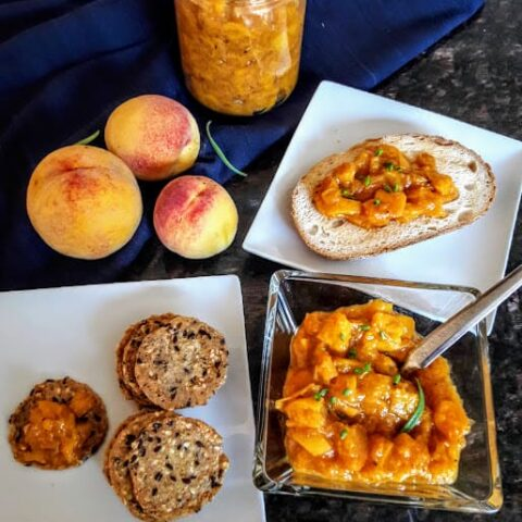 Instant Pot Peach Chutney
