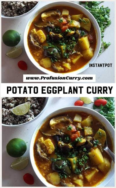 Potato Eggplant Curry-InstantPot