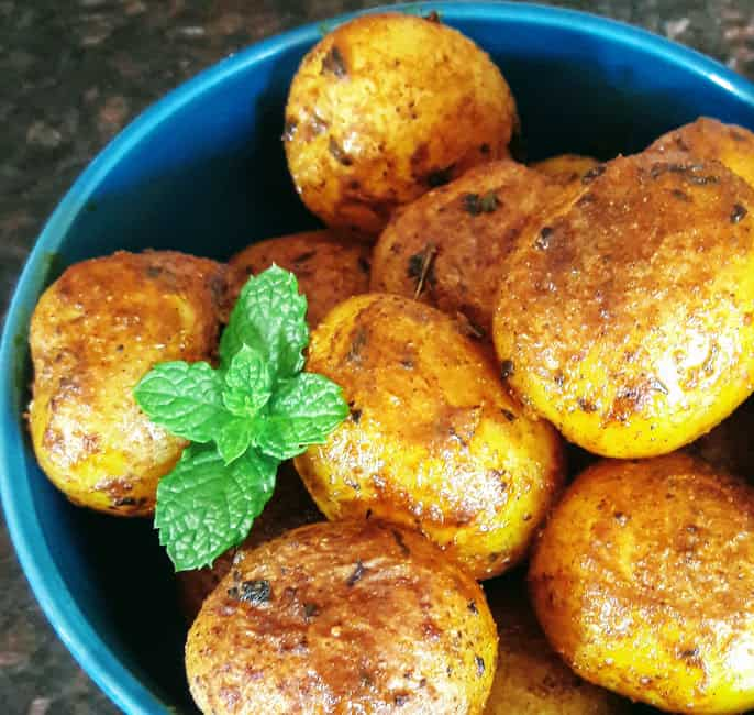 Roasted Masala Potatoes InstantPot