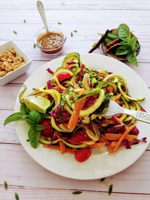 Thai Zucchini Noodles-Keto