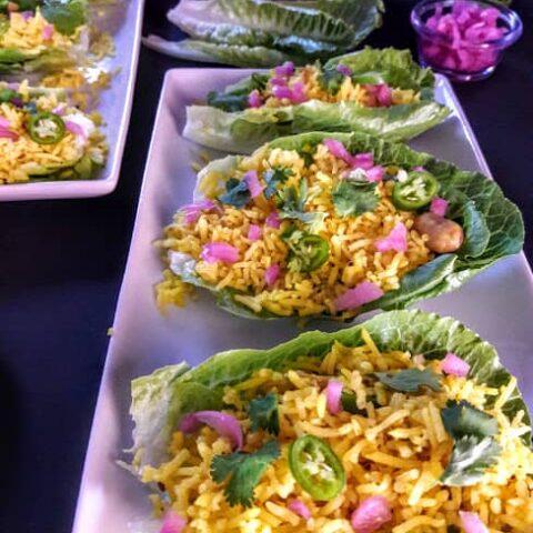 Lettuce Wraps-Turmeric Lemon Rice Recipe