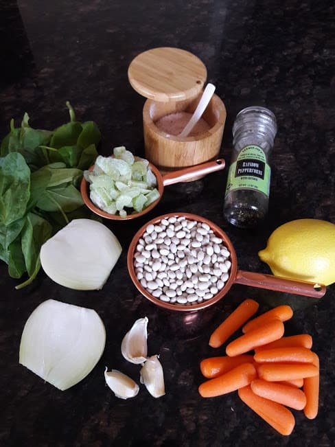 Ingredients used to make this hearty soup.