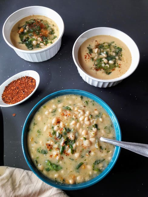 Creamy White Bean and Spinach Soup-InstantPot-ProfusionCurry