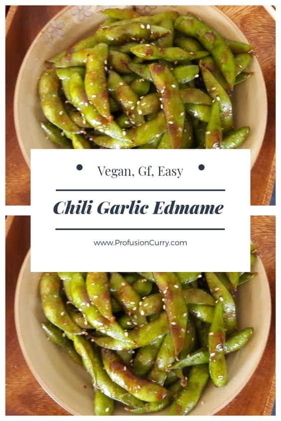 Chili Garlic Edmame Recipe