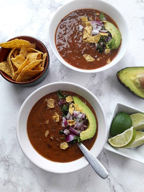 Easy Healthy Black Bean Soup Recipe