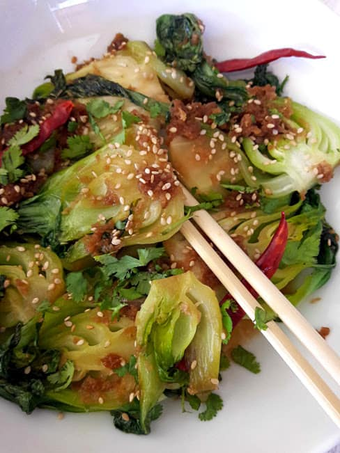 Ginger Garlic Bok Choy Stir Fry