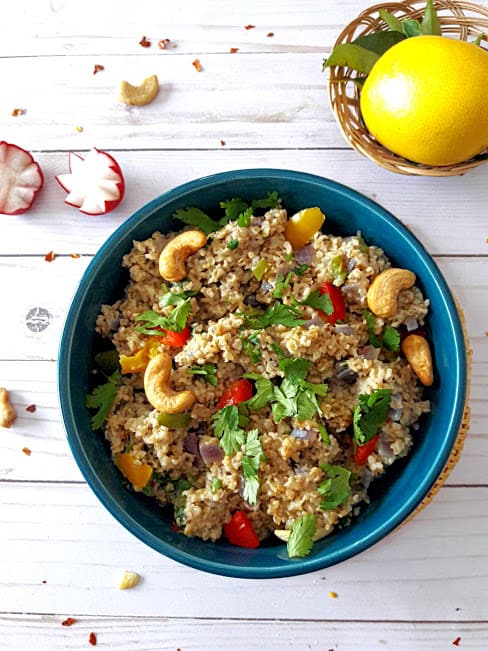 Savory Chia Oats Bowl for delicious breakfast