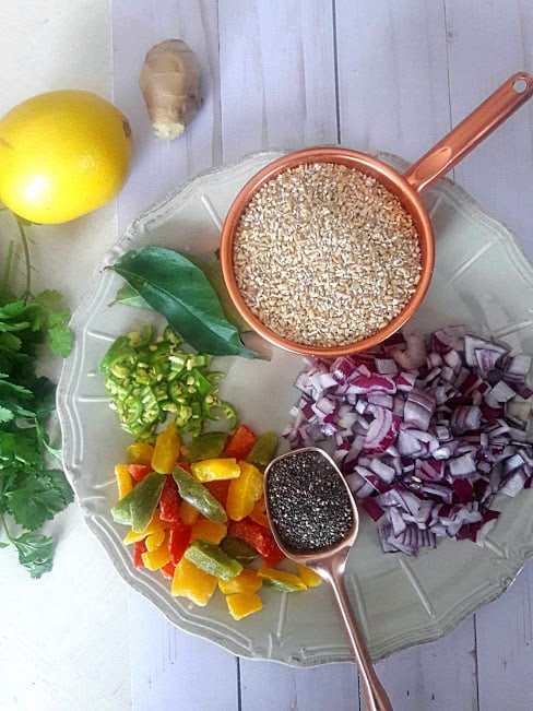 Savory Chia Oats Bowl is a delicious breakfast bowl of champions