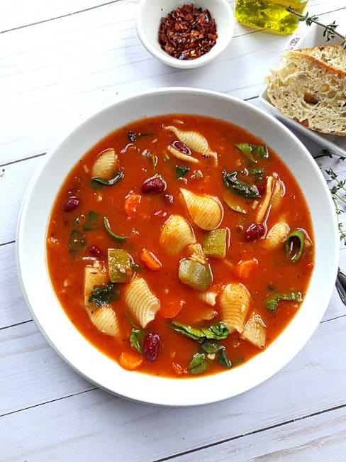 Healthy InstantPot Minestrone Soup