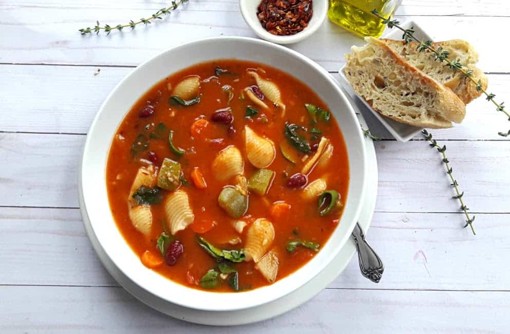Healthy Easy Minestrone Soup