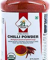 24 Mantra Organic Chili Powder,- 8 oz. Jar, Organic