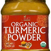 Organic Turmeric Powder - 1LB Jar - 100% Raw w/Curcumin From India - by Jiva Organics