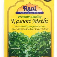 Rani Fenugreek Leaves Dried, All Natural (Kasoori Methi) 28g (1oz) ~ Gluten Free Ingredients | NON-GMO ~ Vegan