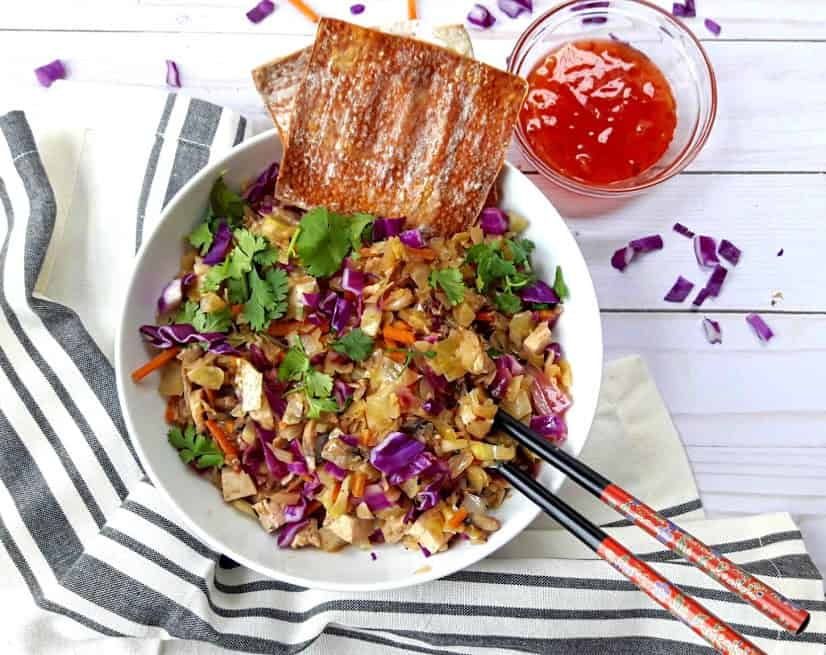 Vegan Egg Roll Bowl