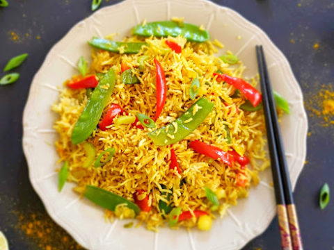 Curry Fried Rice Instant Pot Option Profusion Curry