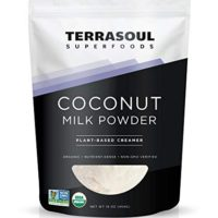 Terrasoul Superfoods Organic Coconut Milk Powder (Plant-Based Keto), 16 Ounces