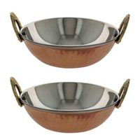 Serving Bowl Karahi Indian Dishes Serveware Set of 2