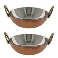 Serving Bowl Karahi Indian Dishes Serveware Set of 2