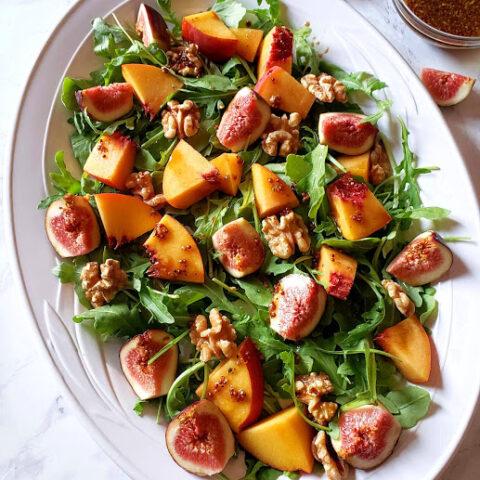 Fig Arugula Salad With Maple Vinaigrette