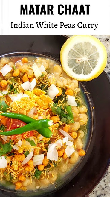 Matar Chaat pinterest image for profusioncurry.