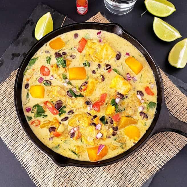 Butternut Squash Black Bean Stew Recipe - Instantpot