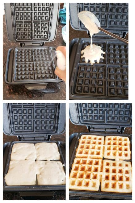 Process step photo collage to make multigrain dosa waffles.