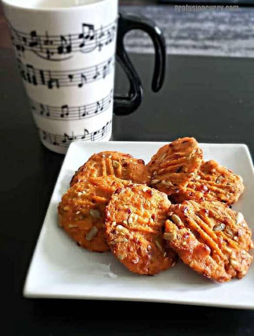 Vegan almond pumpkin cookies are perfect for serving with tea or coffee.