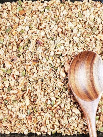 Delicious granola made at home using simple and wholesome ingredients.