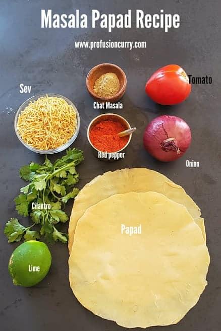 Masala Papad Ingredients