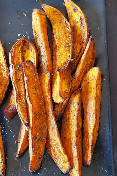 Crispy wedges made in airfryer.