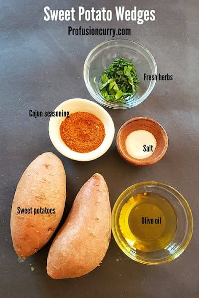 Ingredients used to make this delicious wedges recipe.